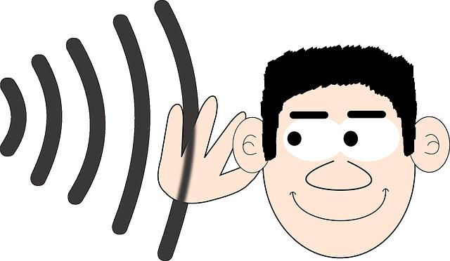 poslouchající panáček