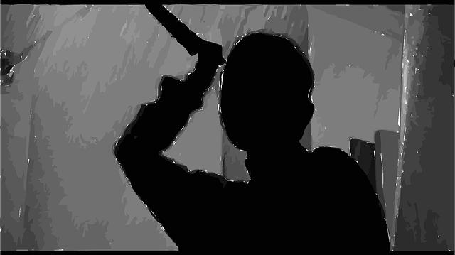 osoba s nožem