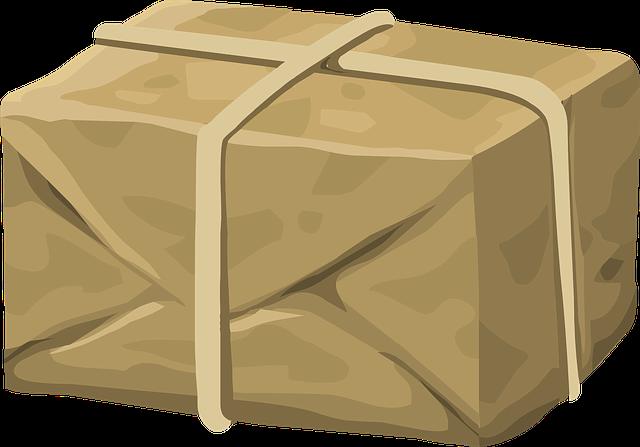 převázaný balíček