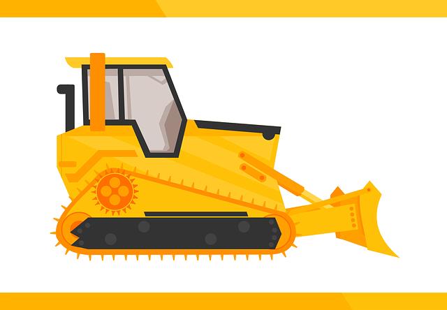nakreslený buldozer